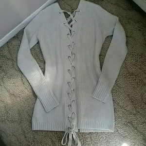 Sweaters - NWT Lace Up Back Sweater